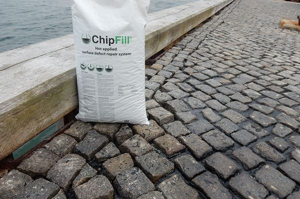 Fixate cobblestones with ChipFill®